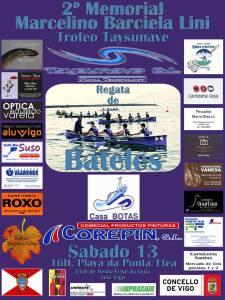 Cartel del 2º Memorial Marcelino Barciela Lini de bateles disputado el 13-02-2016 en A Guia